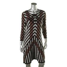 NEW Nine West Sweaterdress Sweater Dress Tumble Weed Brown Combo S