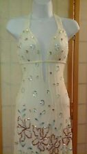 Prom Dress Evening Gown Formal Cruise Couture Size Sm Sequined Beaded Beautiful