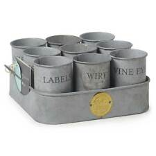 Galvanised Gubbins Storage Tins by Sophie Conran for Burgon & Ball