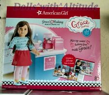 NEW American Girl Baking With Grace Set Kit Read Create Apron Mitt Book Spatula