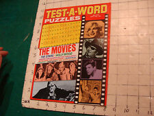 Unused High Grade: TEST-A-WORD Puzzles THE MOVIES may 1974, HTF UNUSED