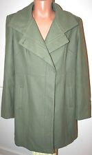 MOSSIMO TRENCH COAT WOOL JACKET LIME GREEN PEACOAT PLUS SIZE XXL 2X