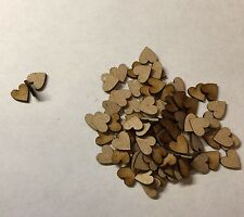 100 X Wooden 1.6 Mm Mdf Hearts Mdf Craft Shape 10 Mm Decoration.