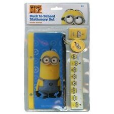 NEW DESPICABLE ME 2 MINIONS BACK TO SCHOOL STATIONERY SET FOR KIDS