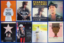 PHARRELL WILLIAMS__Original 2014 Trade AD lot / 8 posters__Walk of Fame CONGRATS