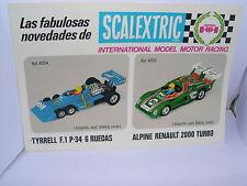 SCALEXTRIC EXIN FOLLETO  AÑO  1982   NUEVO    2 PAGINAS