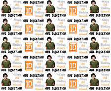 Personalised Gift Wrapping Paper Music ONE DIRECTION HARRY Birthday 2015