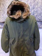 Vintage Fishtail Parka Jacket M65 & Real Fur Hood M-1965 Frieze Liner Small