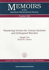 Wandering Vectors for Unitary Systems and Orthogonal Wavelets (Memoirs-ExLibrary