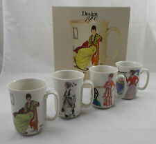 Villeroy & Boch DESIGN 1900 boxed set of 4 mugs UNUSED