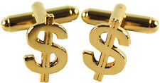 NEW DOLLAR SIGN Mens CUFFLINKS Wedding Party Suit Gift HUSBAND Man Him