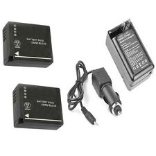 2x DMW-BLG10 DMW-BLG10E Batteries + Charger for Panasonic DMC-GFK DMC-GF6W GF6KK