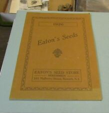1926 Eaton's Seed Store Catalog Newark New Jersey Flowers Vegetables Fruit