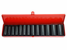 "New 13pc 1/2"" inch Deep Impact Socket Tool Set Metric Garage Workshop 10-32mm"