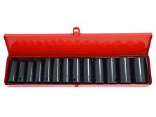 "New 13pc 1/2"" inch Deep Impact Socket Tool Set Metric Garage Workshop 10-32mm"