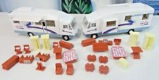"Lot of 2 DIECAST RV CAMPER VAN W/Removable Furniture ""TRAVEL FOR YOU""  Original"