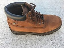 SKETCHERS WATERPROOF MENS SN4442 WATERPROOF BOOTS BROWN LEATHER SIZE 12