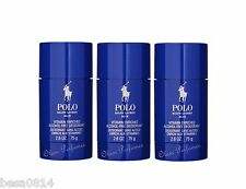 Pack of 3 Ralph Lauren Polo Blue Alcohol Free Deodorant Stick 2.6oz 75g