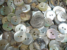 "Pearly white MOP buttons 72pcs real shell agoya 1/2"" mother of pearl 13MM 20L 2H"