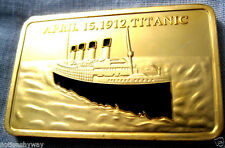 RMS TITANIC Bar Gold Ingot Coin World Famous Ship 1912 to 2012 Film Legend Wreck