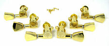 "6 pc. Gold ""Tombstone"" Sealed-Gear Guitar Tuners/Machine Heads (3L/3R) 31-55-01"
