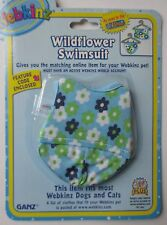 x WILDFLOWER SWIMSUIT fits most WEBKINZ clothes new CODE clothing dress your pet