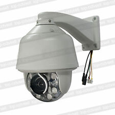 Auto tracking SONY CMOS 1200TVL 30X ZOOM 360°/s PTZ Dome Camera 8PCS IR LED 960H