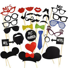 31pcs Party DIY Photo Booth Props Mask Glass Lips On A Stick Wedding Decorations