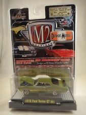 M2 Machines Detroit-Muscle 1970 Ford Torino GT 351 Green NEW 1:64 scale