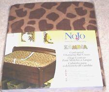 New NoJo Zambia Contoured CHANGING TABLE PAD COVER Brown Giraffe Safari Jungle