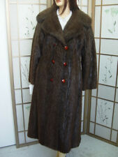 NEW SHOWROOM BROWN NUTRIA (SIMILAR TO BEAVER) FUR COAT JACKET WOMAN SZ 6-8 SMALL