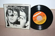 "Paul McCartney Coming Up 7"" vinyl picture sleeve Columbia"