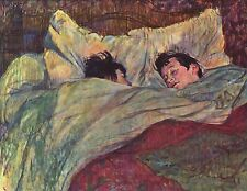 2 Two Girls in Bed by Henri de Toulouse Lautrec Fine Art Picture Print NEW