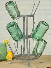 Unique Vintage Gray  Wine Bottle Beer Bottle Holder Drying Rack Stand 16 Piece