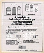 PUBLICITE ADVERTISING 114 1974 GAZ de FRANCE chauffage individuel