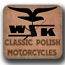 WSK CLASSIC POLISH MOTORCYCLES VINTAGE RETRO METAL TIN SIGN WALL CLOCK