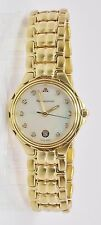 Vintage Ladies Maurice Lacroix Gold Plated Date Quartz Watch MOP Diamond Dial