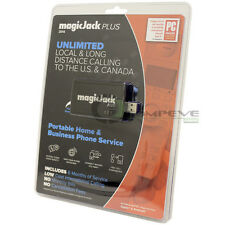 New MagicJack PLUS 2014 VoIP Phone Adapter Call Anywhere +6 Months FREE Service