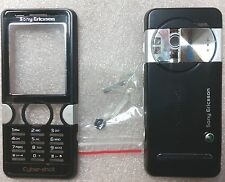 Sony Ericsson K550i Housing, Replacement Cover Set. Black/Silver Color. New.