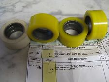 """Urethane Drive Rollers 2"""" Dia. x 0.92"""" x 1.250"""" Bore (3) 35A (1) 20A Durometer"""