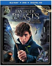 Fantastic Beasts and Where to Find Them (Blu-ray + DVD/Digital 2017) NEW w SLIP