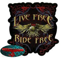 EAGLE RIDE FREE Back Patch Aufnäher Aufbügler Biker Rocker Adler Harley USA