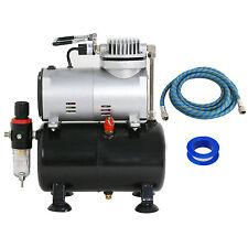 Single Cylinder Piston Airbrush Compressor w/3L Tank 1/5 HP Hobby T-Shirt Tattoo