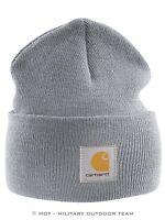 Carhartt ACRYLIC WATCH HAT Mütze, grau, grey, gris, Strickmütze, Cap, Beanie A18