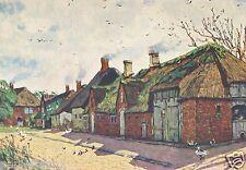 Dorfstrasse Braderup Kunstdruck von 1934 Feddersen Westerschnatebüll Galmsbüll