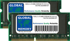 1gb (2 x 512mb) pc133 133mhz 144-pin SDRAM SODIMM TITANIO PowerBook g4 RAM KIT