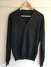 NWOT Prada Dark Grey Cardigan Sweater S 48 Mod Dolce Vita