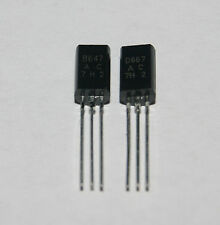 2SD667 2sb647 TRANSISTOR a bassa frequenza Power Amplifier to-92mod (1pair) NUOVO