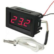 LED Digital DC 12V 0-999℃ Thermocouple Thermometer Temperature Meter with Probes