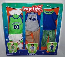 """My Life as 18"""" Boy Doll 11pc Clothing Outfit Set-fits American Girl"""